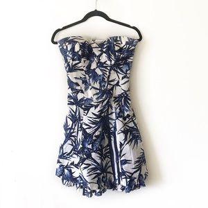 Karen Millen England Bird Pattern Sweetheart Dress